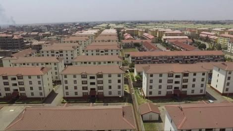 An image taken from drone footage of Nyayo Estate in Nairobi