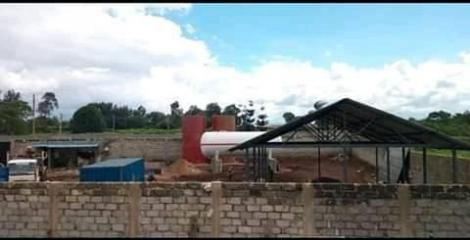 The new LPG depot under construction at the Wambugu farm in Nyeri County, seen on Friday May 15, 2020