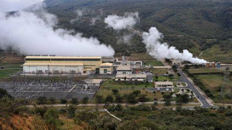 Olkaria II geothermal power plant, Kenya.