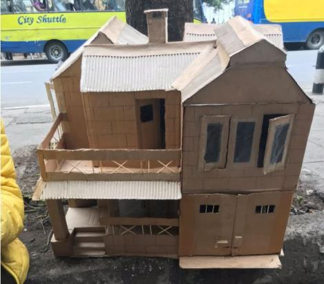 One of the doll houses created by Class six pupil Fred Junge.