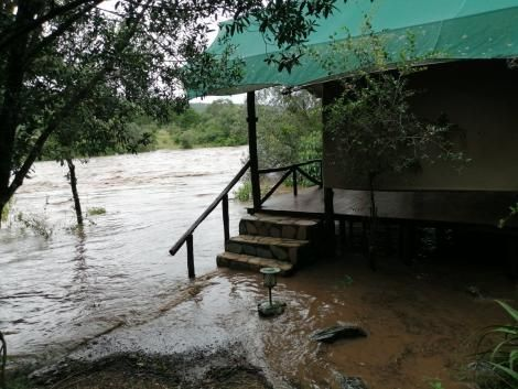 One of the luxury tents at Fairmont Mara Safari Club that was hit by floods on April 2020.