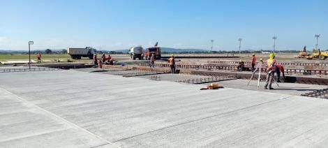 Ongoing rehabilitation works at the Moi International Airport in Mombasa.