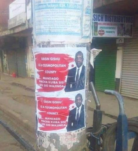 Photo of a campaign poster widely distributed across Eldoret, Uasin Gishu County on Monday, May 18
