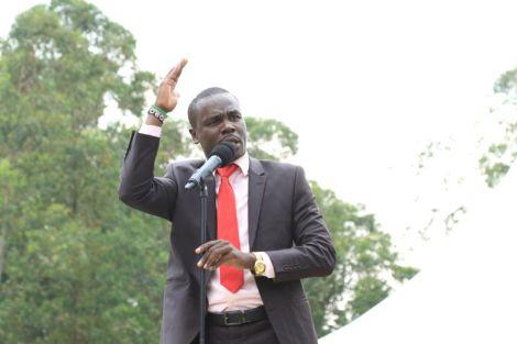 South Mugirango MP Sylvanus Osoro speaking at a past event.