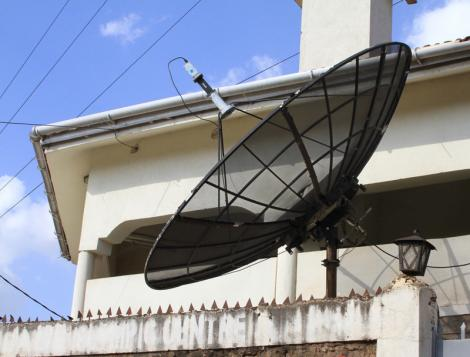 A transmitter located in Kibra where Pamoja FM broadcasts from.