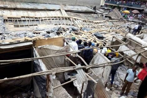 A building that collapsed in Pipeline Estate in Nairobi on January 3, 2018.