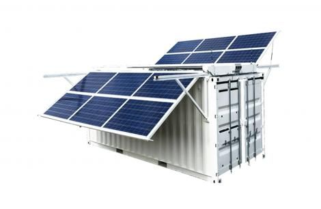 Portable solar-powered cold store that is employed by Solar Freeze to offer storage solutions to farmers in the rural area.