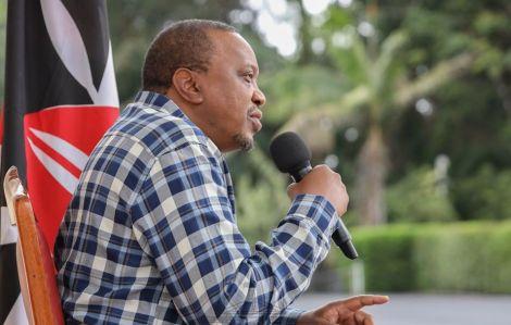 President Uhuru Kenyatta Speaking during his radio interview at State House Nairobi on April 7, 2020.