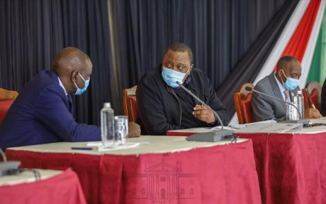 President Uhuru Kenyatta chairing a National Government and County Government Summit at State House on June 10, 2020