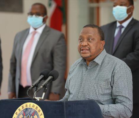 President Uhuru Kenyatta delivering his speech on July 6, 2020.
