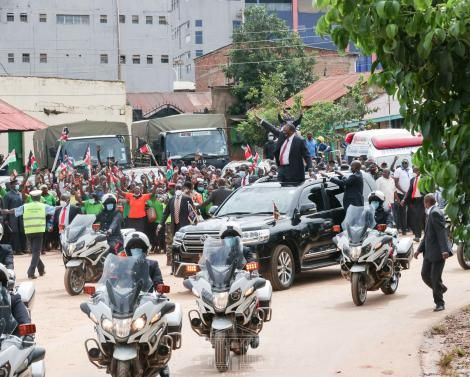 President Uhuru Kenyatta in Kisii on Mashujaa Day October 20, 2020.