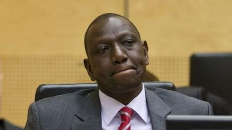 Deputy President William Ruto at the ICC during a past hearing