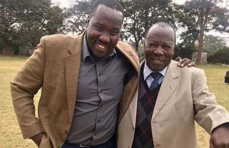 File image of Willis Raburu with his father Peter Raburu
