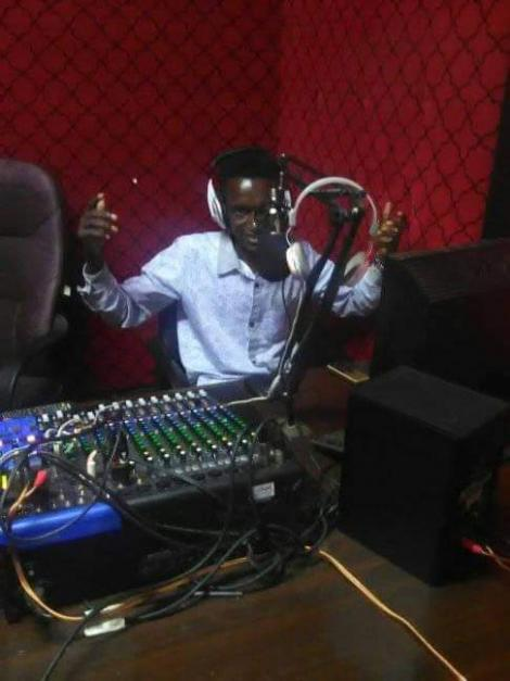 An image of a radio presenter