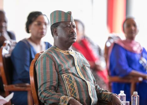 Raila Odinga pictured during the Nation Prayer Service held at State House Nairobi on March 21, 2020..jpg
