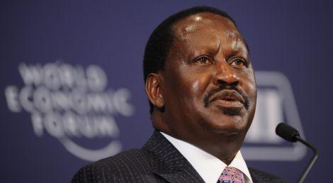 ODM leader Raila Odinga speaks at the World Economic Forum (WEF).