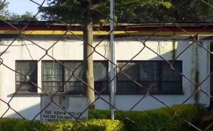 Railways Police Station in Nakuru Town.