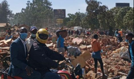Resident comb through rubble after Kenya Railways Demolished businesses