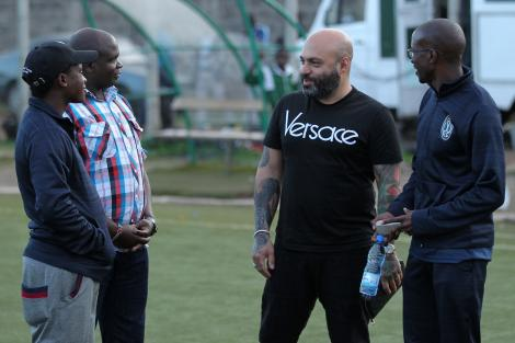 File image of Wazito FC owner Ricardo Badoer (in Versace shirt) during a past trip to Kenya