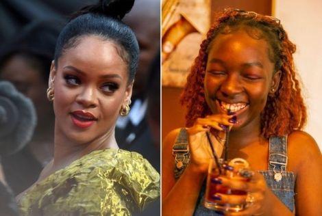 Rihanna (Left) and Kenyan Comic Elsa Majimbo.