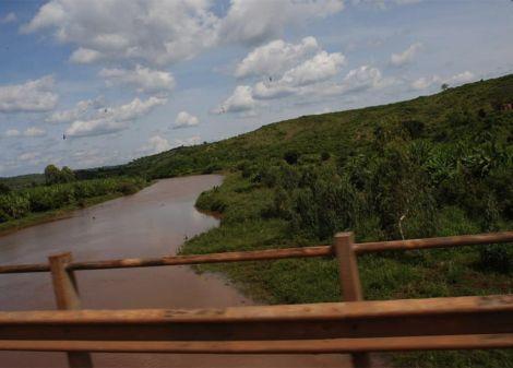 A file image of River Sagana located at the border of Murang'a and Kirinyaga County.