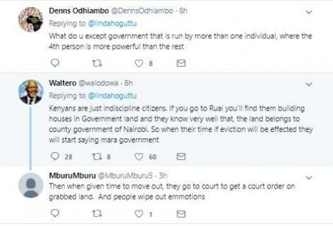 Some of the reactions to the government's Friday night, May 15, 2020 evictions in Ruai, Nairobi
