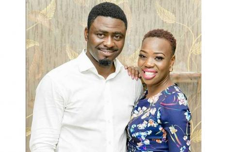 Gospel singer Ruth Matete pictured with her late husband BelovedJohn Apewajoye