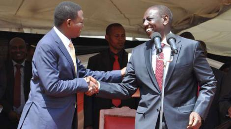 An image of Ruto and Mutua