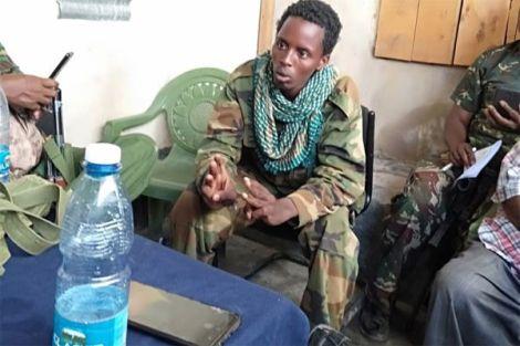 Salat Hajir Jimale, a suspected Al-Shabaab fighter at Elwak Police Station in Mandera on February 20, 2020.