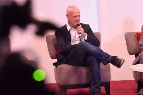 Acting Safaricom CEO Michael Joseph during a media briefing on July 1, 2019, following the demise of Bob Collymore.