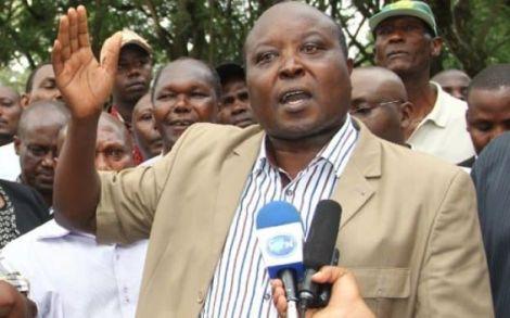 Nakuru Town West MP Samuel Arama addresses a crowd in Nakuru in 2019