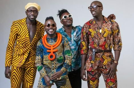 Sauti Sol boy band during a past photo shoot