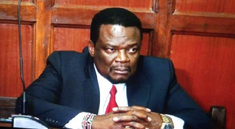 Sirisia MP John Waluke appears in a court in Nairobi.