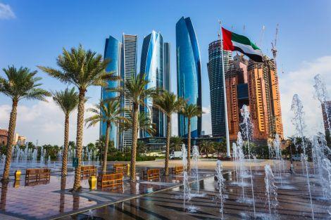 Skyscrapers in Abu Dhabi, the Capital City of United Arab Emirates.