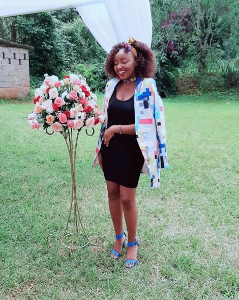 Software Developer Carol Kariuki pictured during a wedding in Nairobi on December 13, 2019.
