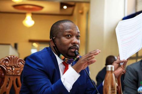 Former Nairobi Governor Mike Sonko during his impeachment hearing in December 2020.