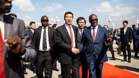 Special Envoy of the People Republic of China, Wang Yong and Cabinet Secretary for Transport, Infrastructure, Housing, Urban Development and Public Works, James Macharia (Far Right) on December 17, 2019..jpg