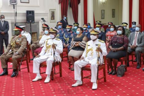 The Swearingin of General Kibicho as the new Chief of the Kenya Defence Forces (CDF) took place on Monday, May 11.