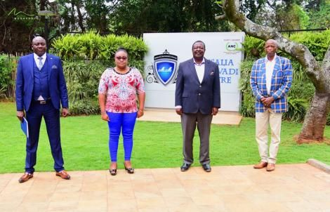 (From Left) Simon Ngunjiri, Regina Macharia, ANC party leader Musalia Mudavadi and Philip Githua pictured after a meeting on July 7, 2020