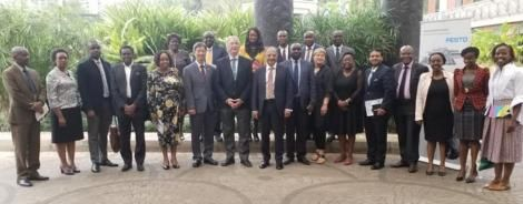 Officials from WSI accessing Kenya's readiness to join the WSI in February 2020.