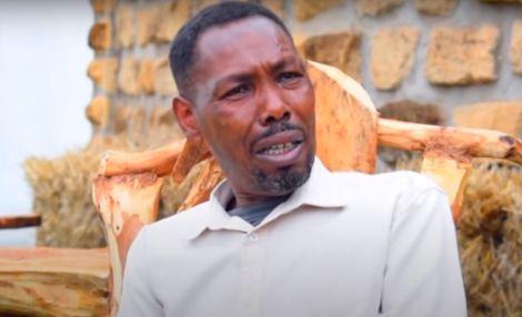 Tahidi High actor Kamau Kinuthia alias Omosh during an interview on a show on You tube on Friday, February 12.