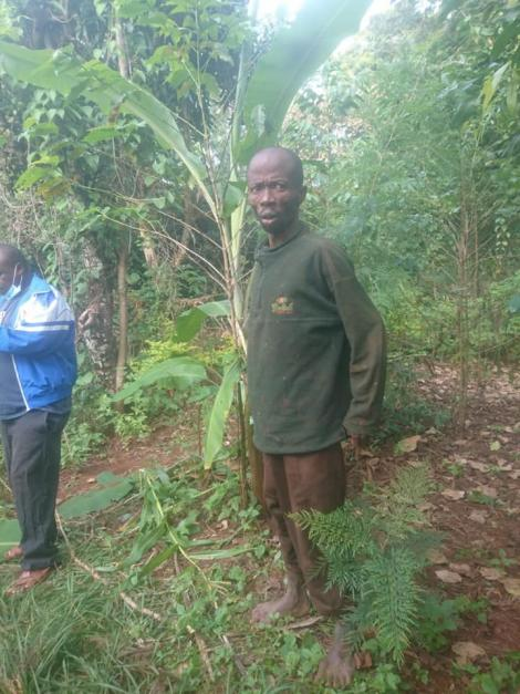 The Tharaka Nithi man rescued from a pit on June 3, 2020