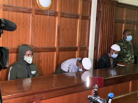 The 3 Westgate terror suspects pictured in Court.