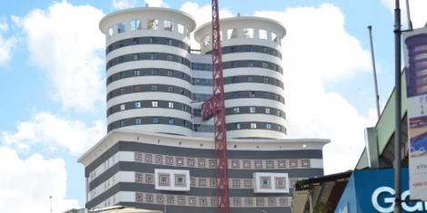 The Nation Centre building in Nairobi's Kimathi Street where the Nation Media Group offices are located. Monday, October 21, 2019