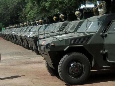 The National Police Service NV4 armoured vehicles