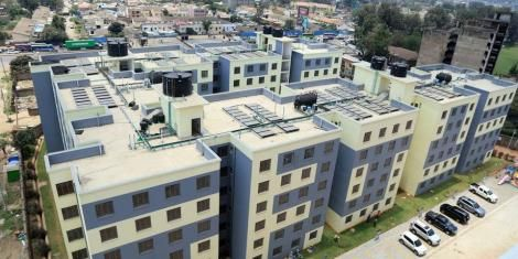 The housing units located along Park Road in Ngara