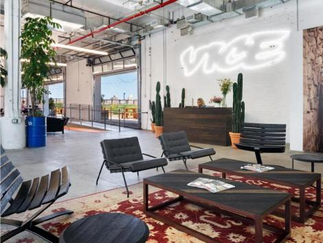 The lobby of Vice Media Company in United States of America in New York