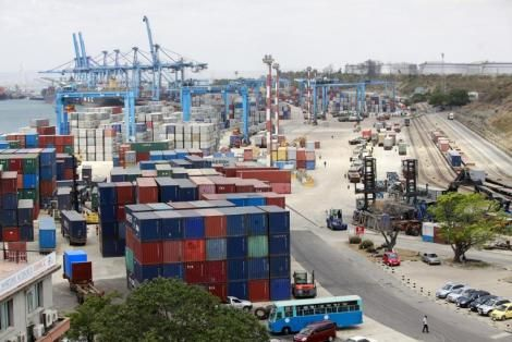The port of Mombasa.