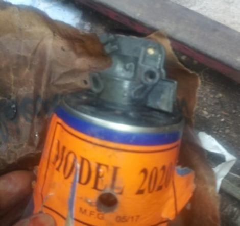 The teargas canister that was hurled by police in Huruma area Nairobi on May 22, 2020. It landed next to a 2-months-old baby.