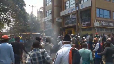 An image of Gikomba protests